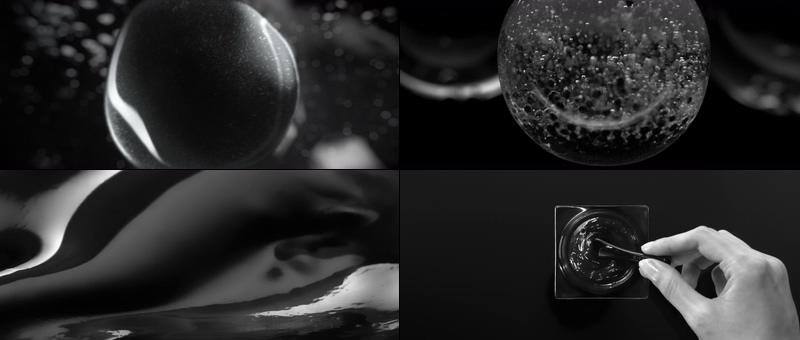 黑色能量护肤品保养视频素材